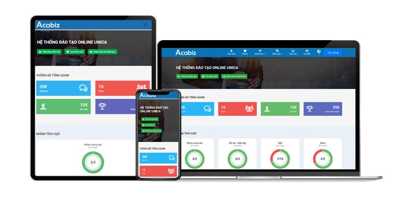 Acabiz là website đào tạo trực tuyến chuyên nghiệp